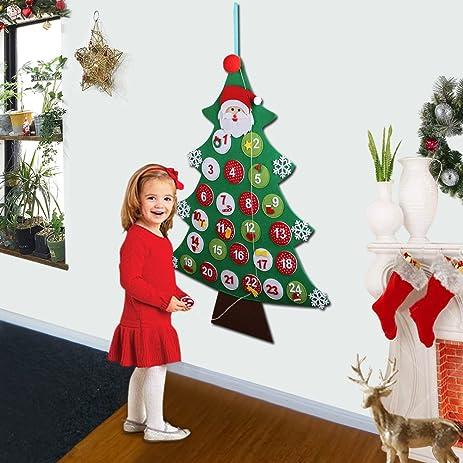 Amazon.com: Aytai Felt Christmas Tree Advent Calendar, Wall ...