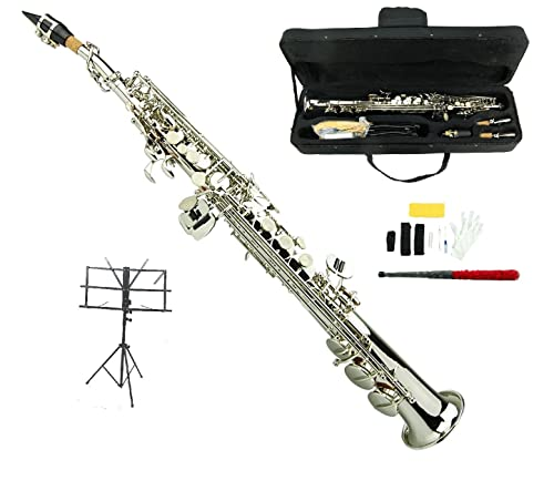 Merano B Flat Silver Soprano Saxophone