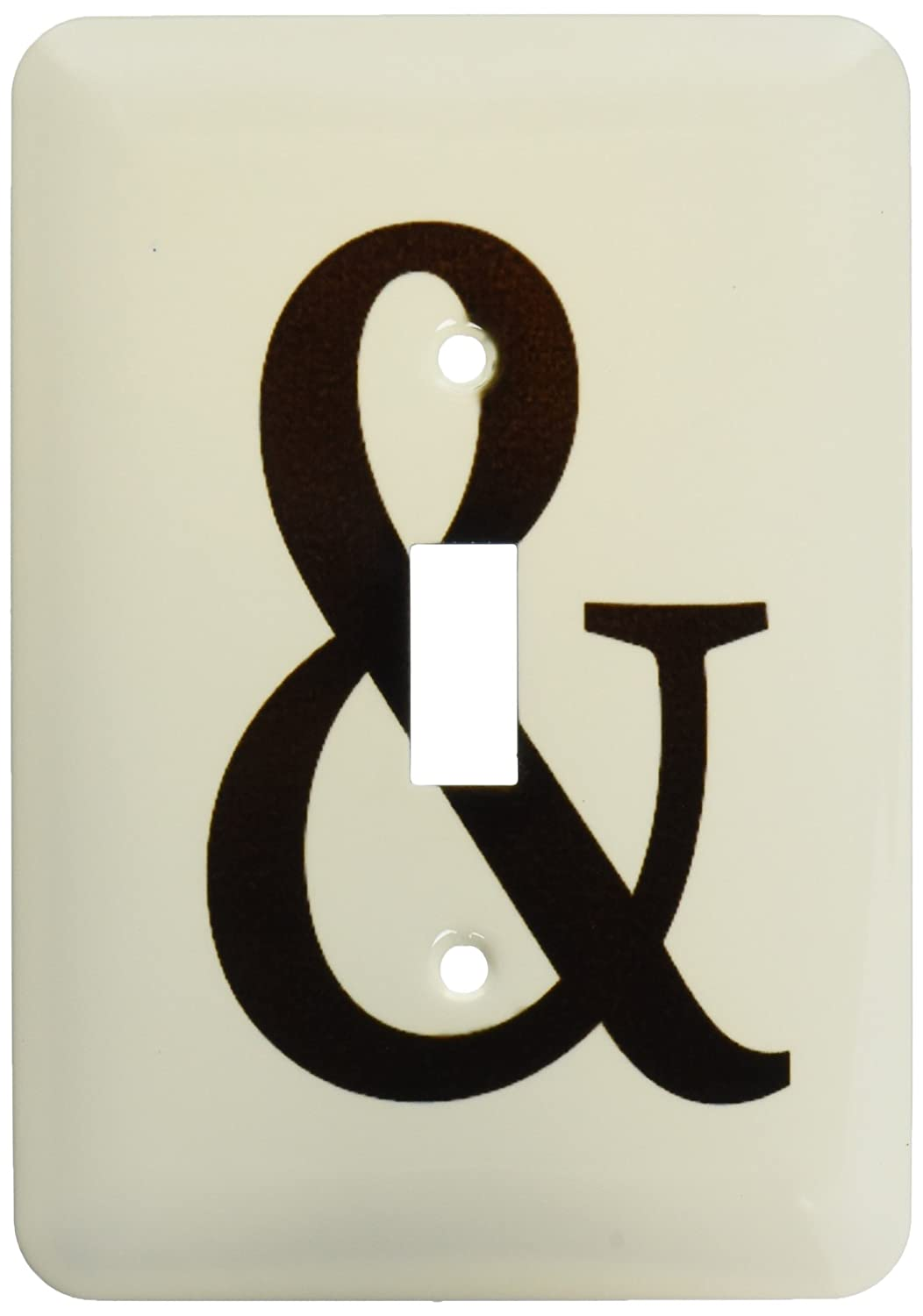 3dRose lsp/_151646/_1 Ampersand Stylish Black and Sign Cool Punctuation Marks Togetherness Symbol Together Single Toggle Switch
