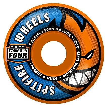 Spitfire Wheels Fórmula cuatro Radial Naranja Blast ruedas de monopatín, 101du 52 mm