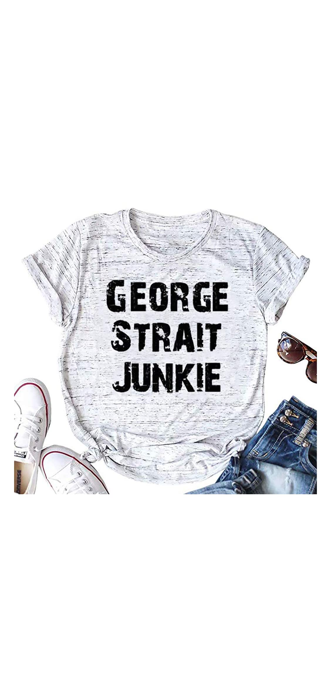 County Music T Shirt George Strait Graphic Tees Tops For Women