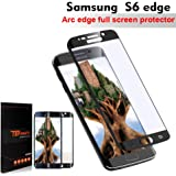 "TEFOMATE Verre Trempé Galaxy S6 Edge, Verre Trempé Protection écran Full Glass Screen Protector pour Samsung Galaxy S6 Edge 5.1"" [Curved 3D ] [Black]"