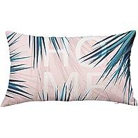 ZEELIY ZEELIE Rectangle Cushion Cover Silk Pillowcase Queen Pillow Case Cover Rectangle Printed Silk Throw Pillow Case Pillow Case Silk Throw Pillow Case Pillowcase