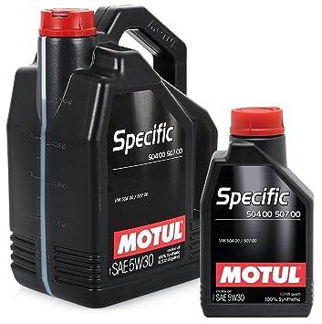 Aceite Motor 106375 Motul Specific 504.00-507.00 5W30 6 litros: Amazon.es: Coche y moto