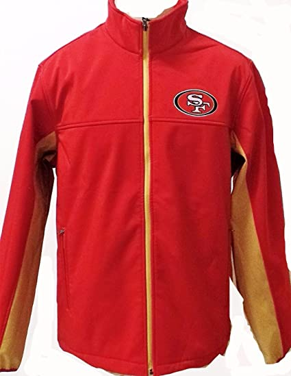 Licensed Sports Apparel San Francisco Football Forty-Niners 3 Layer  Softshell Bonded Hands High Jacket c4d3d74d4