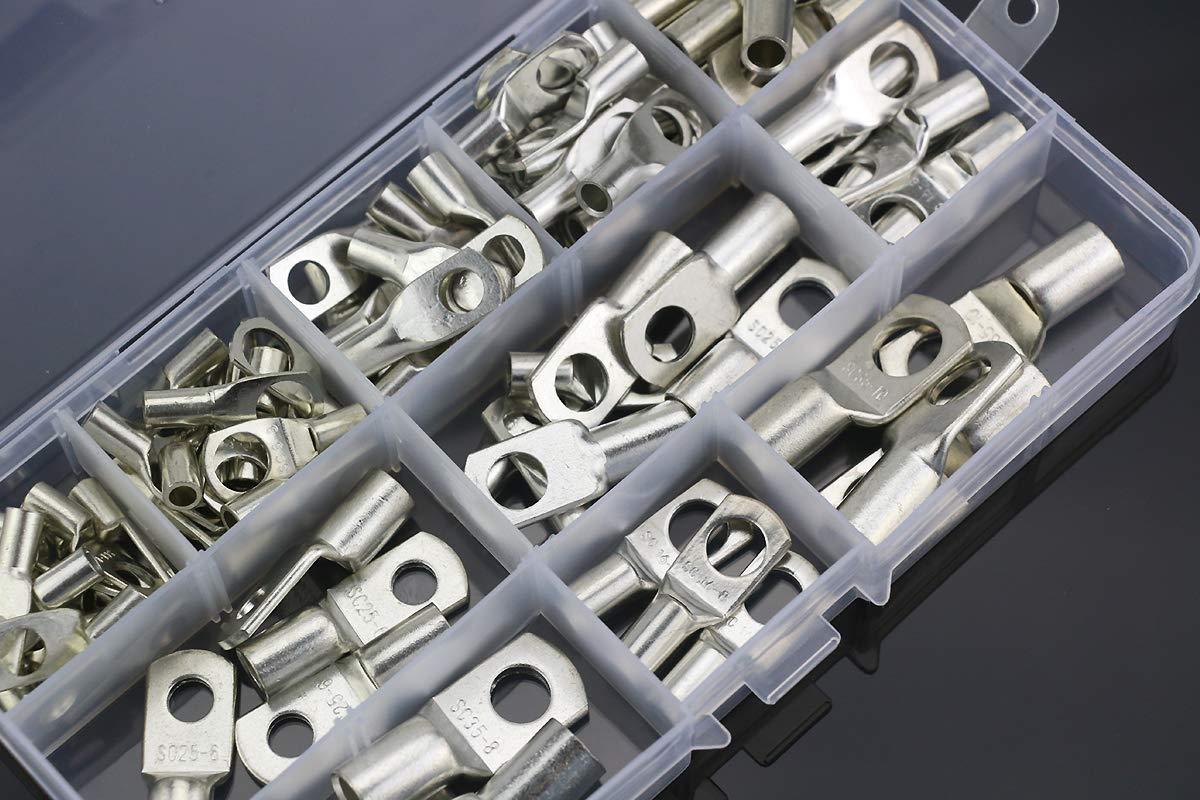 con bulloni Happymore Non null in lega di alluminio Set di 10 rondelle per auto 6 colori Argento Taglia libera