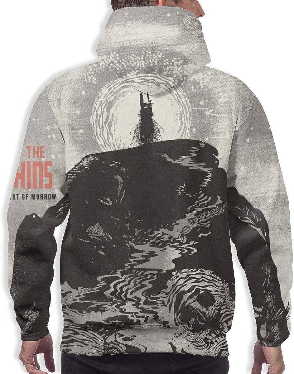 QLCDFAQQKN The Shins Port of Morrow Mens Sweater Fashion Long Sleeve Pocket Hooded Sweatshirts Black