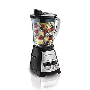 Hamilton Beach 58148 Power Elite Multi-Function Blender with Glass Jar (58148A), OSFA Black