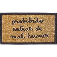 laroom 13550–Zerbino Prohibido entrar de Mal Humor, Colore: Marrone