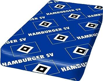 Bettlaken Hamburg.Hamburger Sv Spannbettlaken Hsv Hamburg Spannbetttuch Amazon De