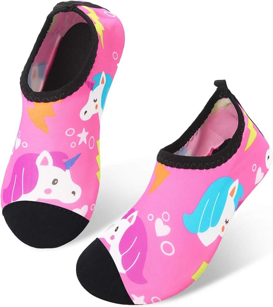 Baby Boys Girls Sea Shark Beach Barefoot Swim Water Skin Shoes Aqua Socks Beach Swim Pool