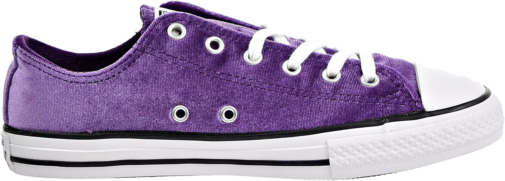 balcón lucha Apretar  Amazon.com | Converse All Star Velvet Ox - Girls Preschool Basketball Shoes  658211F, Night Purple/white/white (1 M US Little Kid) | Sneakers