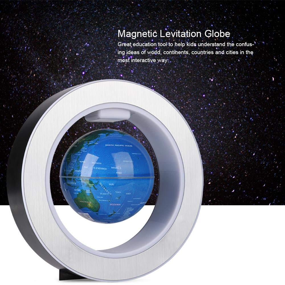 FTVOGUE TVOGUE Magnetic Floating Globe Revolving World Map Globe Light LED Decor Gift Ornaments EU Plug
