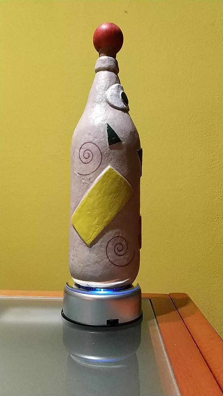 Botellas con suerte - Decoración Botella Reciclada Cruzcampo Arena de playa y decoupage de 28cm: Amazon.es: Handmade