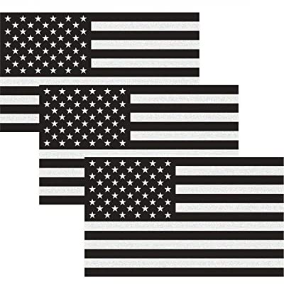 """CREATRILL Reflective Subdued American Flag Sticker 3"""" X 5"""" Tactical Military Flag USA Decal Great for JEE, Ford, Chevy or Hard Hat, Car Vinyl Window Bumper Decal Sticker (3-Pack): Automotive"""