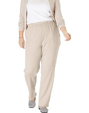 1f8d014de4 Woman Within Women's Plus Size 7-Day Knit Straight Leg Pant