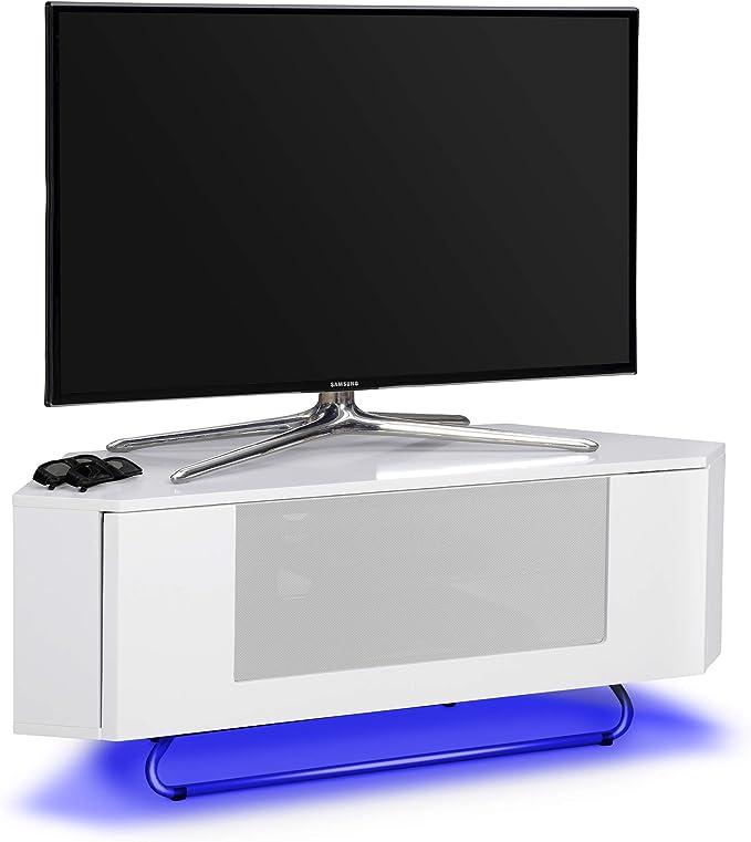 Centurion soporta Hampshire - Mueble de TV de Pantalla Plana con 16 Luces LED de Color Blanco Brillante con luz Blanca a través de Distancia de 26 Pulgadas a 50 Pulgadas: Amazon.es: Electrónica