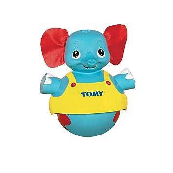 TOMY Primera Infancia - Elefante Musical Andador, Color Azul, Amarillo y Rojo (T72228)