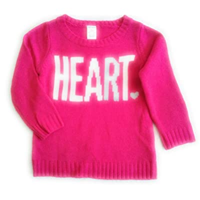 Carters Girls Heart Intarsia Pink Sweater 2T