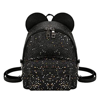 Tomtopp Shining Sequins Women Cute Mini Backpacks Girls Shoulder  Schoolbag Black a8d42ac49907f