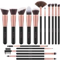 EmaxDesign Makeup Brushes 17 Pieces Premium Synthetic Foundation Brush Powder Blending...