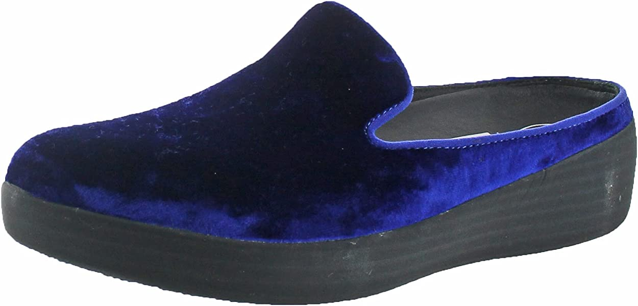 9098ba0f81a3 FitFlop Womens Superskate Mules in Velvet Slip On Shoes