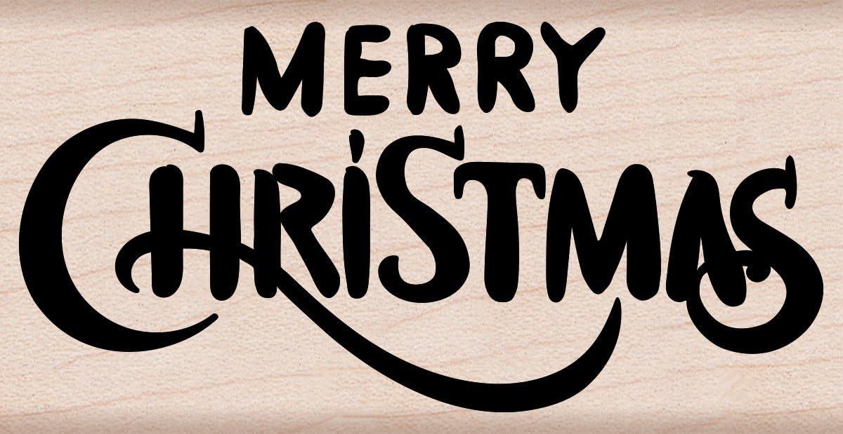 amazon com hero arts merry christmas calligraphy arts crafts sewing hero arts merry christmas calligraphy