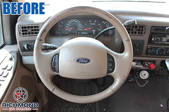 Amazon.com: 2001 Ford Excursion Limited - Leather Steering Wheel Cover, Tan: Automotive