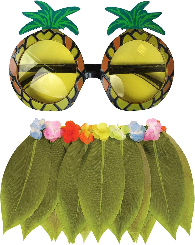 Labreeze - Gafas de Sol Hawaianas de piña con Falda de Hoja de ...