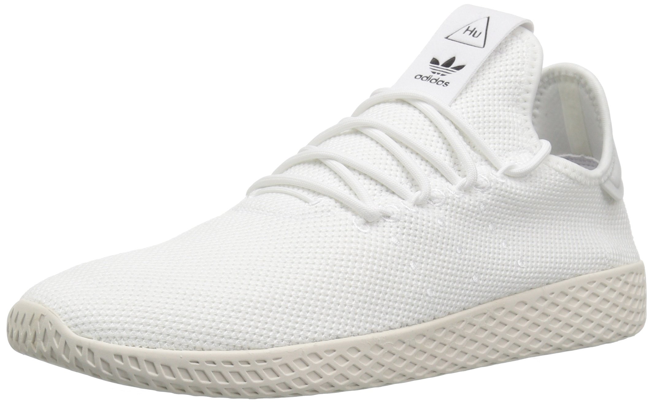 adidas Originals Men's Pw Hu Tennis Shoe, White/Chalk White, 7.5 M US by adidas Originals