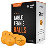 PRO SPIN Ping Pong Balls - Orange 3-Star 40+ Table Tennis Balls (Pack of 12, 24) | High-Performance ABS Training Balls…