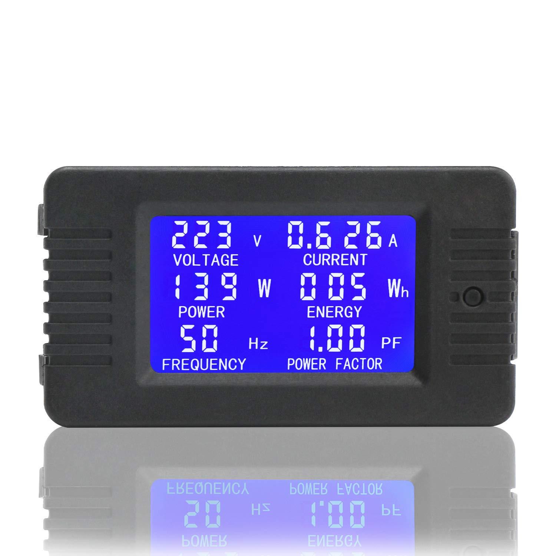 Facteur de fr/équence de la Tension dalimentation de lintensit/é de la Tension dalimentation Tout-en-Un Droking AC M/ètre num/érique AC 80~260V 100A voltm/ètre amp/èrem/ètre wattm/ètre multim/ètre