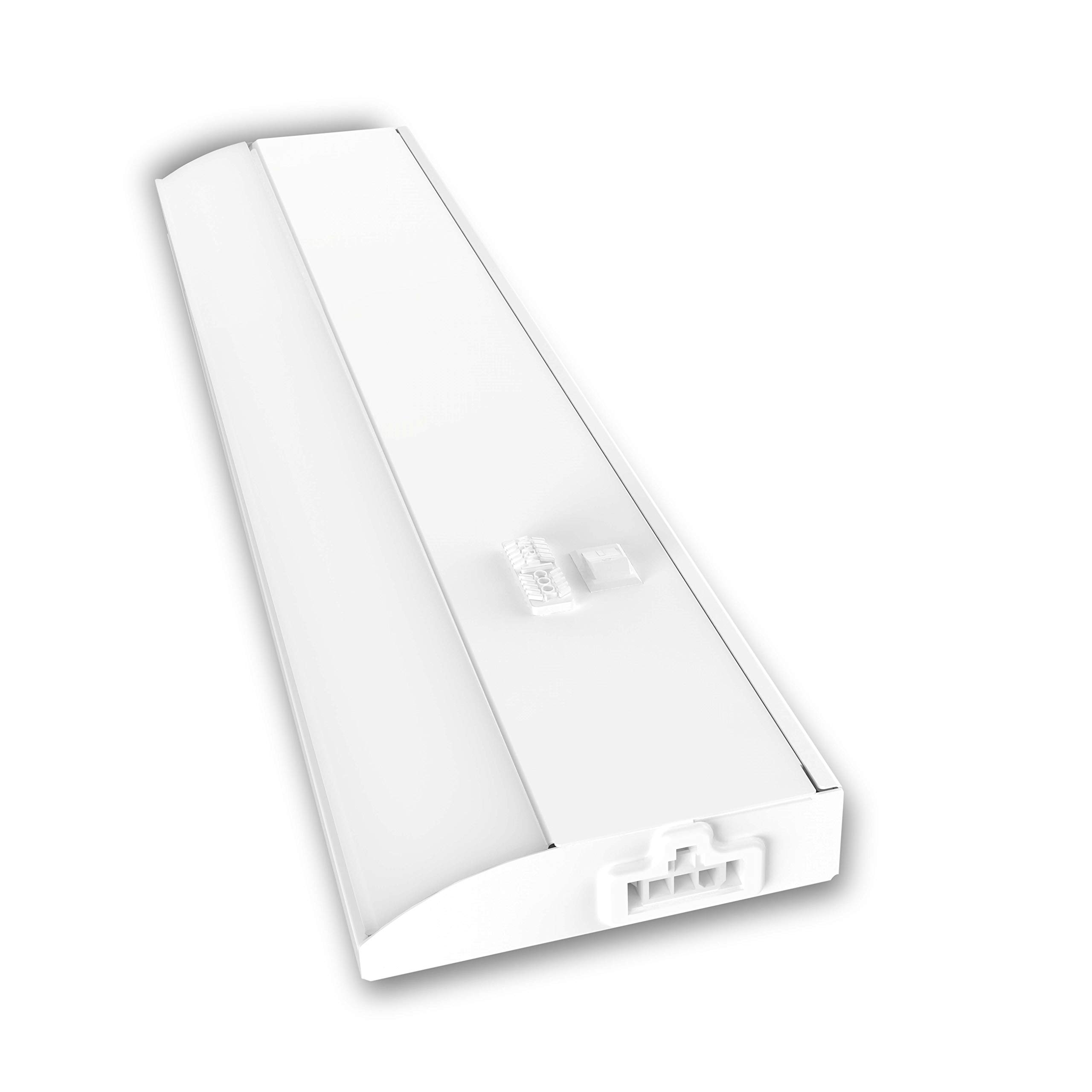 Good Earth Lighting 12-inch LED Slim Direct Wire Linking Light Bar - 2700K/3400K/4000K White Color Selectable - 50,000 Hours Lamp Life - Dimmable - Energy Star - White by Good Earth Lighting
