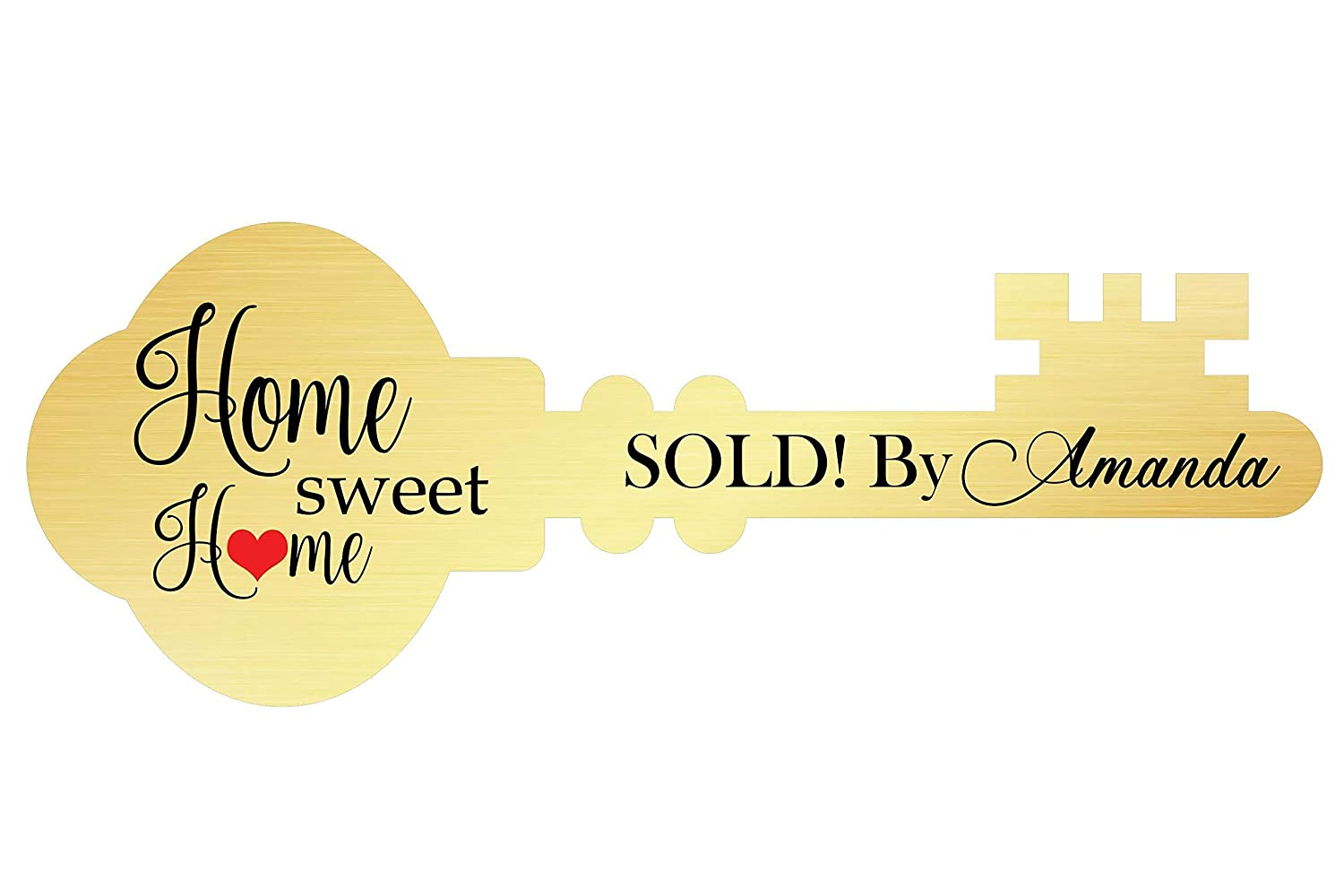 Custom Key Prop Cut Out Giant Key Realtor Prop Size 36x24 and 18x24 Marketing Key Sign Sold By Listing Realtor Key Cut Out Photo Booth Prop