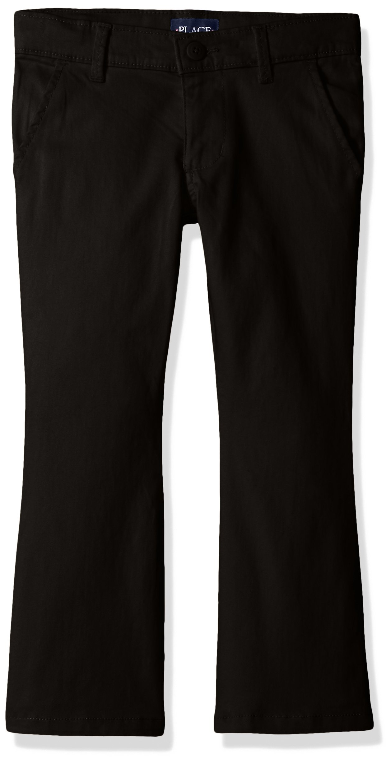 The Children's Place Big Girls' Uniform Pants, Black 43302, 14