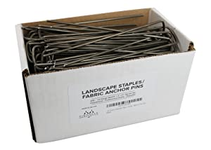 150 Garden Landscape Staples Stakes Fabric Anchor Pins 6 Inch Strong Durable 11 Gauge Steel USA By Pinnacle Mercantile