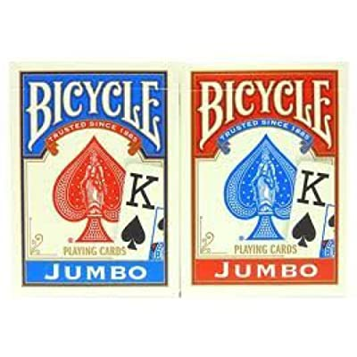 Bicycle Poker Size Jumbo Faces Standard Index Playing Cards, 4 Piece: Sports & Outdoors