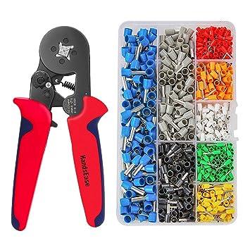 Crimpzange Aderendhülsenzange 0,25-10,00 mm Crimpzange Set mit 1200 Werkzeugsatz