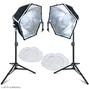 Linco Lincostore Photography Photo Table Top Studio Lighting Kit- 30 Seconds to Storage