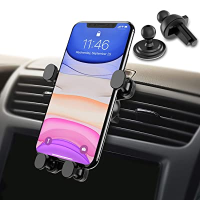 Syncwire Gravity Phone Mount for Car, 2-in-1 Air Vent Phone Holder, Automatic Locking Universal Car Cell Phone Mount Compatible iPhone 11/Pro MAX/XS/XR/8/8 Plus/7, Samsung Galaxy Series and More