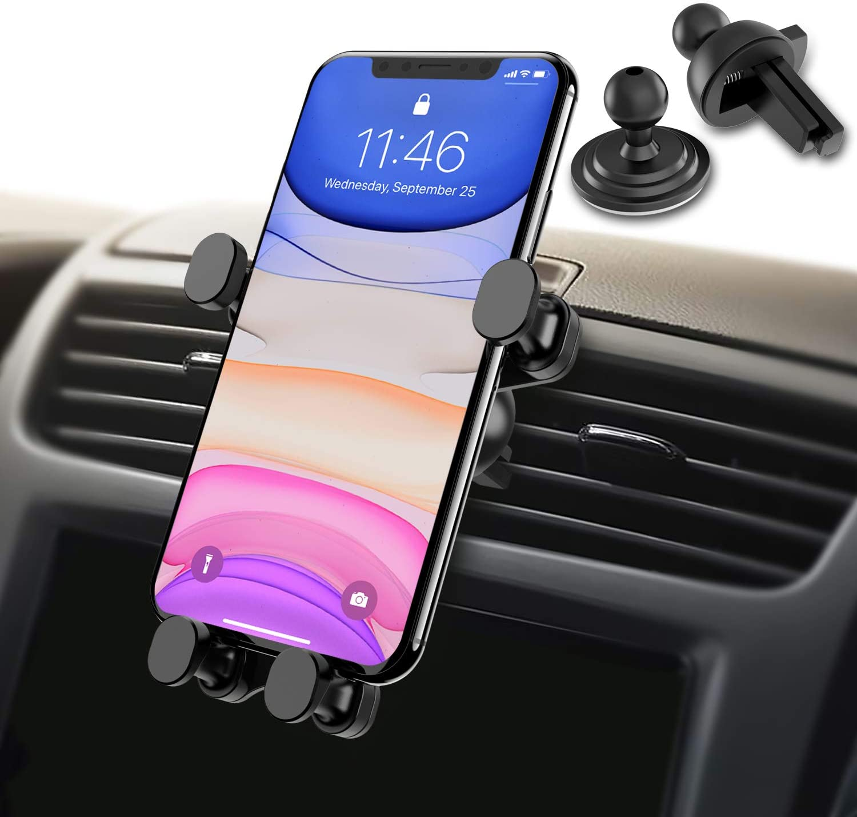 Samsung Syncwire Supporto Auto Smartphone Gravit/à Porta Telefono per Cruscotto e Parabrezza Blocco Automatico Gravit/à Linkage 360/° Rotazione Huawei per iPhone 11//XS Max//XR//XS//X//8 Xiaomi ecc