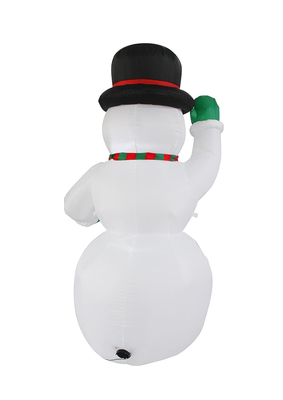 JF deco 2.1m aufblasbare Weihnachtsschneemann-Dekoration ...