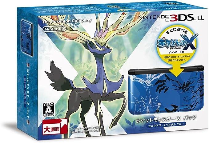 NINTENDO 3DS LL Pocket Monsters X pack Xerneas Yveltal Blue ...