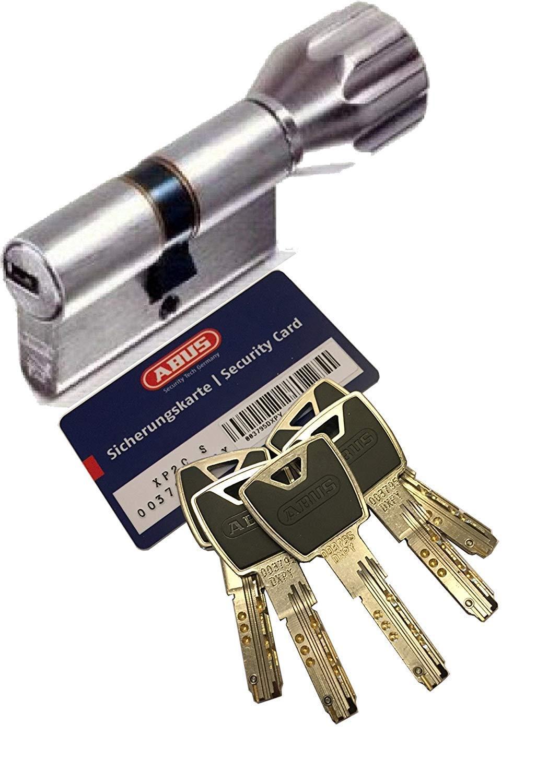 mit SKG** Bohrschutz mit Sicherungskarte und 5 Schl/üssel mit Design-Clip ABUS XP20S KXP20S Knaufzylinder L/änge Z35//K30mm K=Knaufseite