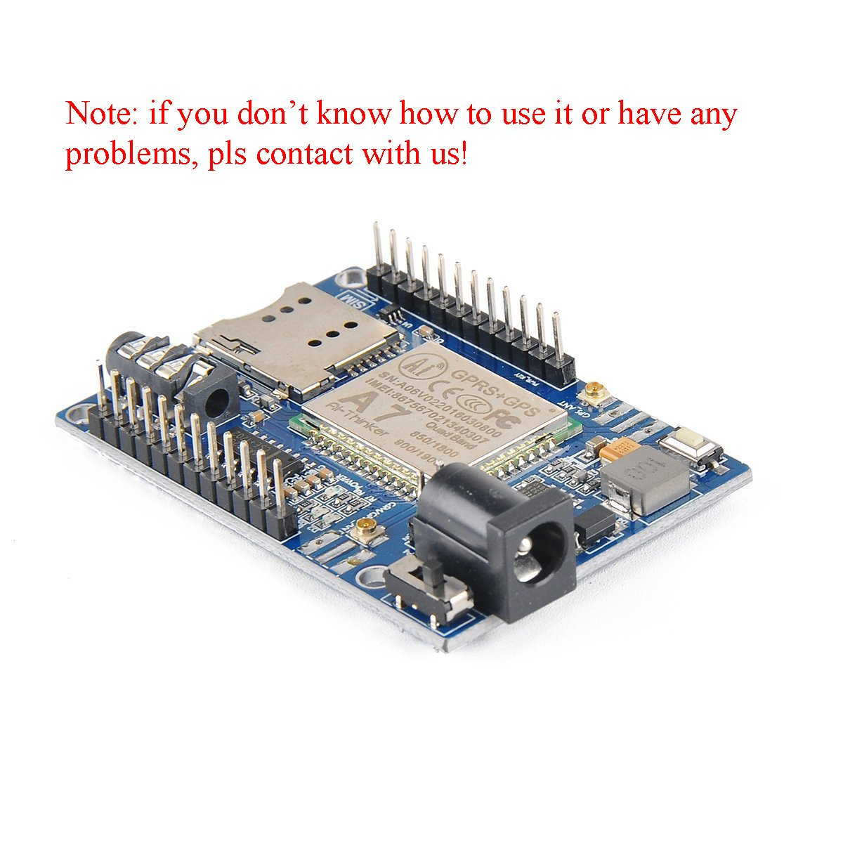 MakerHawk A7 GSM GPRS GPS Module 3 in 1 Module Quad Band GSM/GPRS IPEX  Antenna DC 5-9V Support Voice Short Message for Arduino STM32 51