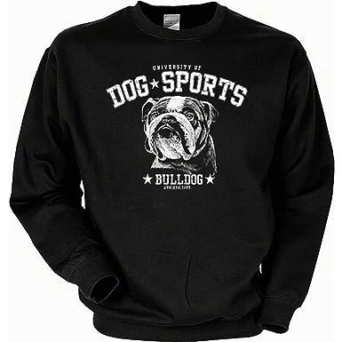 geil bedruckte Sweatshirt mit Hunde Motiv / Dog Sports - Bulldog !