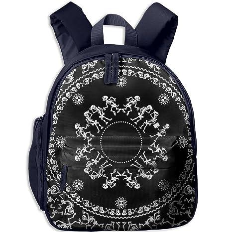 Toddler Kid baile Esqueleto escuela Mochilas personalizada preescolar hombros bolsa para niños niñas