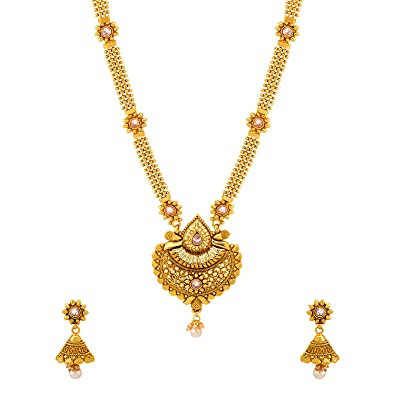 07d8b6891e2c Image Unavailable. Image not available for. Color  Voylla Ethnic Sanskriti  Rani Haar Necklace Set for Women