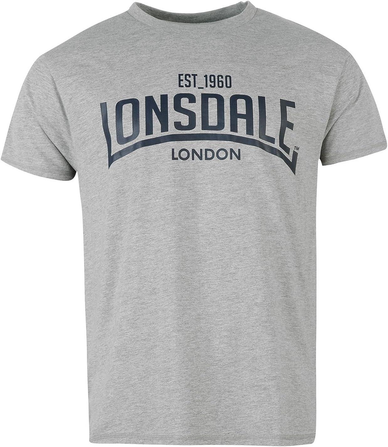 Lonsdale Box–Camiseta de Manga Corta Cuello Redondo Tiempo Libre té Top Sportshirt