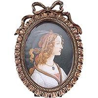 Porta-retrato vintage BESPORTBLE, moldura oval para pendurar fotos, decoração de cenário, suporte para fotos para…